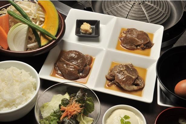 松尾ジンギスカン 札幌南1条店。「3種食べ比べランチセット」