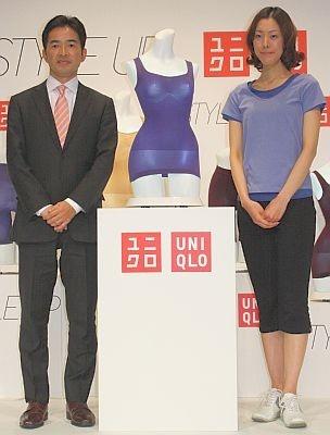 取締役の大苫さん(左)と、ゲストで登場したウォーキングインストラクターの谷英子さん
