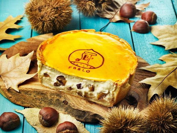 「焼きたてマロンチーズタルト」(1200円)。渋皮栗の優しい甘さとふわとろ食感を楽しもう※11月1日(水)~期間限定