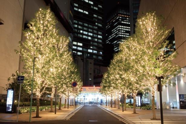 シンフォニー豊田ビルは幻想的な光が街を灯す