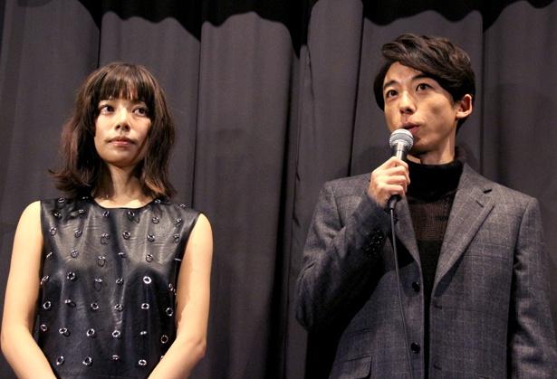 映画「THE LIMIT OF SLEEPING BEAUTY リミット・オブ・スリービング ビューティ」で共演した桜井ユキと高橋一生