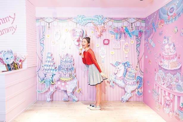 「アニマルパレード」フォトスポット/ECONECO Cafe&Sweet