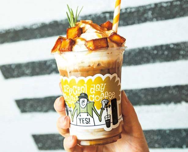 「大学いもラテ」(518円~)。10月31日(火)まで/THE CITY'S BEST COFFEE
