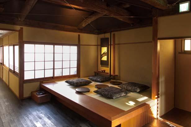 2階の小上りの座敷には琉球畳を使用/スターバックス コーヒー 京都二寧坂ヤサカ茶屋店