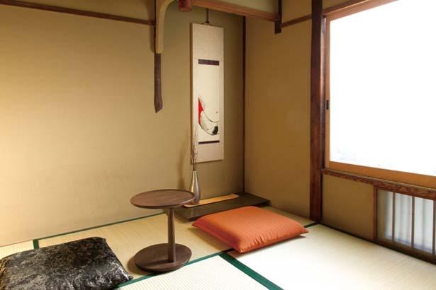 部屋ごとに異なる掛軸や床の間/スターバックス コーヒー 京都二寧坂ヤサカ茶屋店