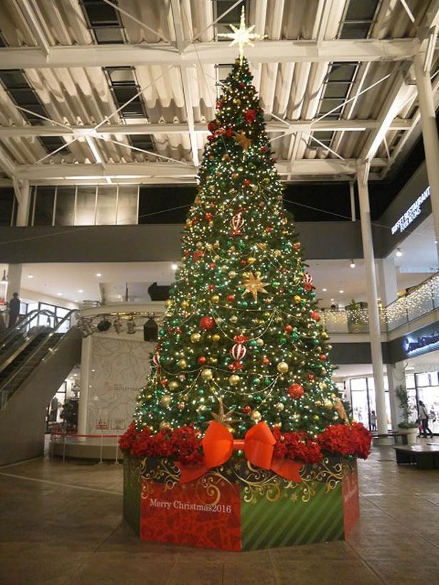 三井アウトレットパーク 入間では、12月25日(月)まではセンタープラザに約6mのツリーが登場