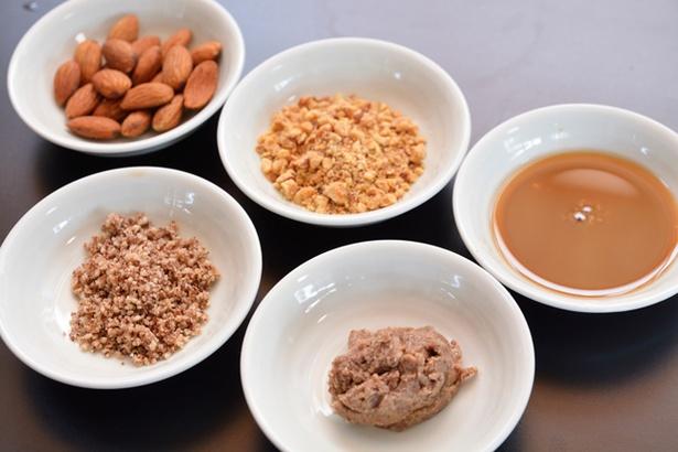 【写真を見る】アーモンドペーストとパウダーはスープで溶き、トッピングにもアーモンドがのる