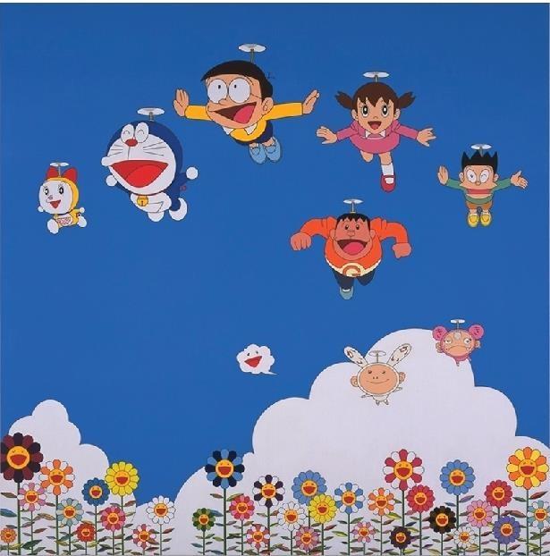 前回「THE ドラえもん展」村上隆さん出展作品「ぼくと弟とドラえもんとの夏休み」(2002年)