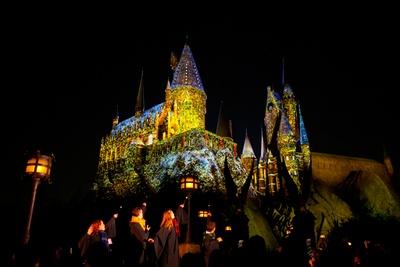冬の装いとなったホグワーツ城が夜空に映える※写真はイメージ