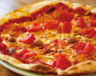 「木の子と新鮮トマトのピッツァ」(1404円)