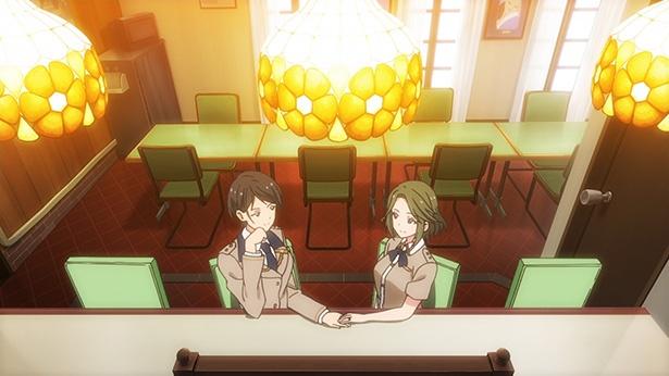 「つうかあ」第4話の先行カットが到着。筑波女子高等学校ペアの距離感に隠された秘密とは?
