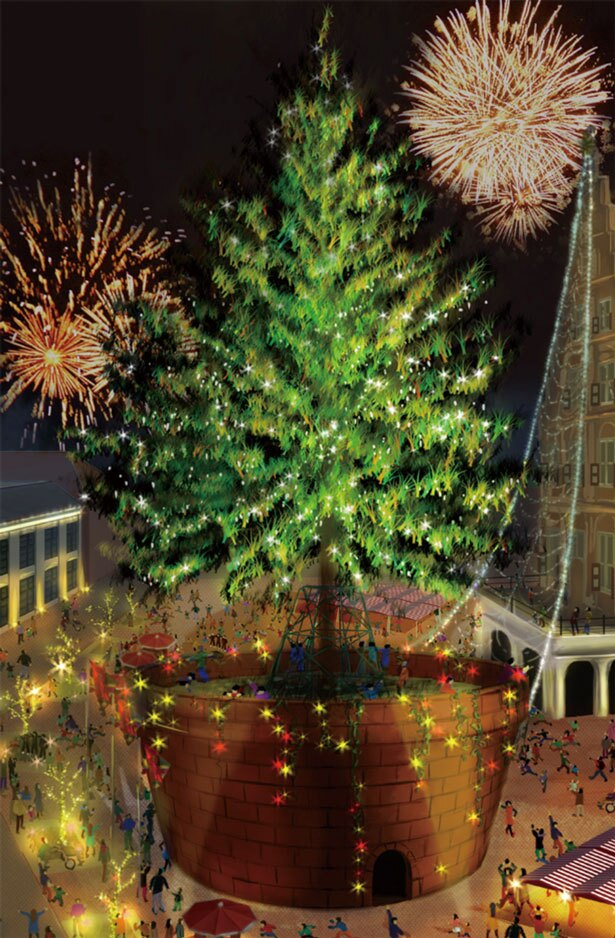 ツリーの周辺にも多彩なイルミネーション/めざせ!世界一のクリスマスツリープロジェクト〜輝け、いのちの樹。〜