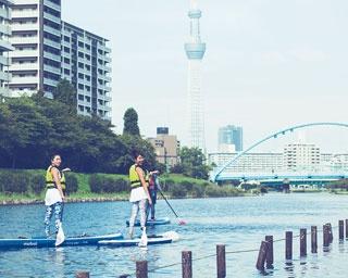 水上で見る東京スカイツリーに感動!旬のスポーツと東京のシンボルを同時に楽しめる