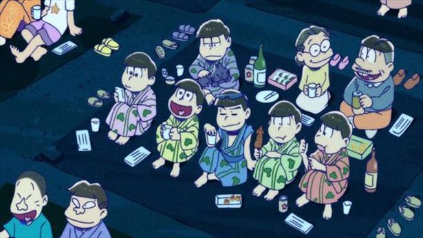 「おそ松さん 第2期」第5話の先行カットが到着。6つ子たちの夏!