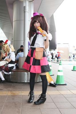 「東方project」の姫海棠はたてに扮した片山絵里さん