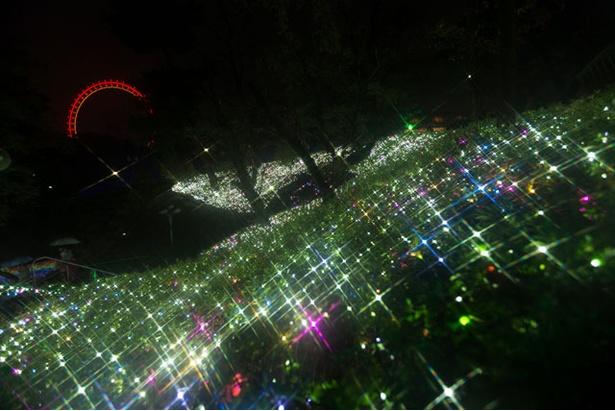 いたるところがLEDで装飾された様は、まさに光の空間