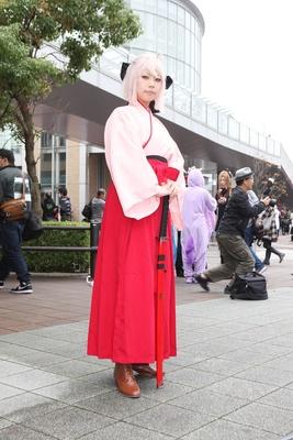 「Fate/Grand Order」の桜セイバーに扮したちまさん
