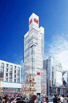 H&M原宿店は明治通りラフォーレ原宿横