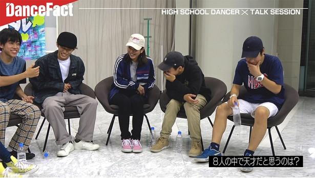 高校生ダンサー8人によるトーク