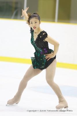 細田采香、近畿ブロックでのフリープログラムの演技
