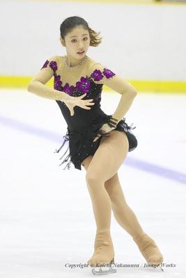 細田采香、サマーカップでのショートプログラムの演技