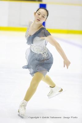 大庭雅、サマーカップでのフリープログラムの演技