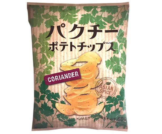 オリジナル パクチーポテトチップス(カルディコーヒーファーム)