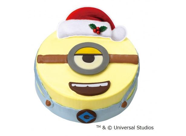 なにかたくらんでる?ワルくてかわいい表情のクリスマスアイスケーキ