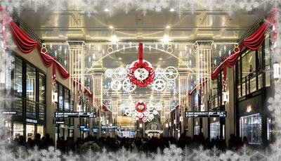 クリスマス・イルミネーション「0号線のPLATFORM」/梅田阪急ビル