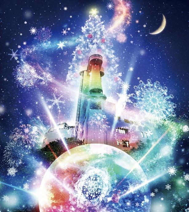 名古屋港ポートビル(名古屋市港区)では「名古屋港FIREWORKS BY NAKED-光の雪花火-」が開催