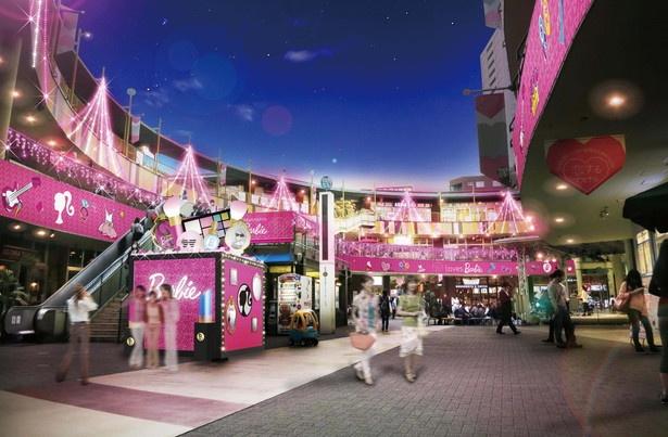 人気ドール「バービー」とコラボしたイルミネーションが楽しめるアスナル金山(名古屋市中区)