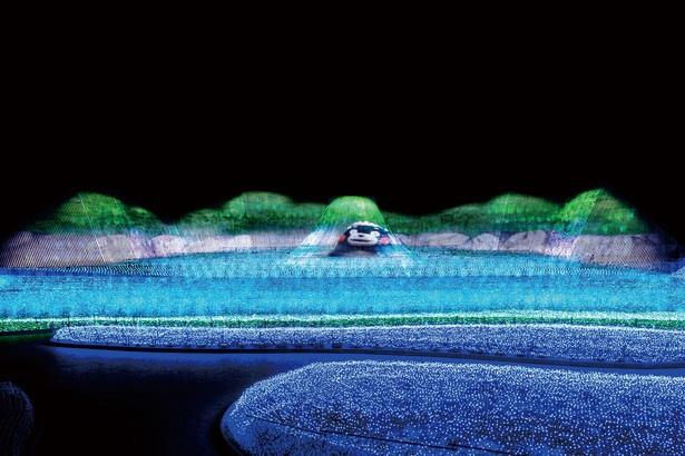 鍋ヶ滝や菊池渓谷をイメージしたイルミ「森の風景」