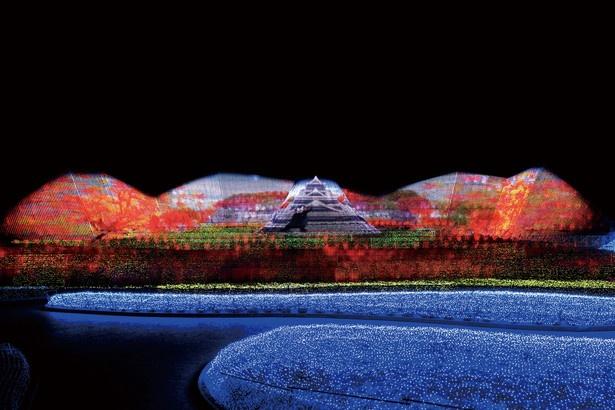 熊本城と季節の美しい情景を表現した「歴史の風景」