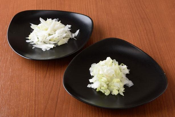 【写真を見る】トッピングは栃木産のブランドネギ「那須の白美人ネギ」を使用(右)/らぁ麺 とうひち