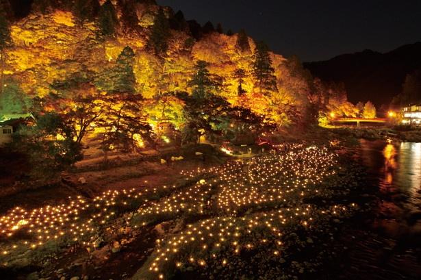【写真を見る】ライトアップ時の飯盛山の美しさは一見の価値あり