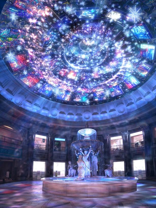 「VenusFort  Lumina」では12月25日(月)までの土・日曜、祝日を中心とした特別演出日に、生演奏とのコラボレーションも