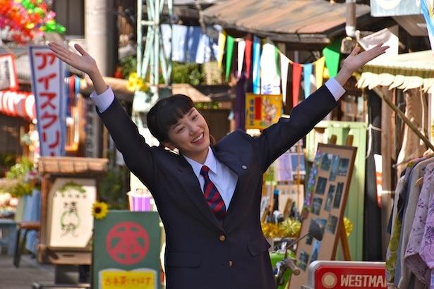 連続テレビ小説「半分、青い。」で、ヒロイン・鈴愛を演じる永野芽郁