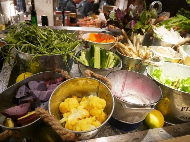 カラフルで新鮮な野菜がたくさん!野菜詰め放題