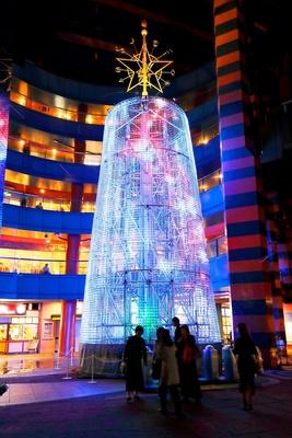 高さ約15mの「STAR TREE」。やわらかな光が辺りを包む