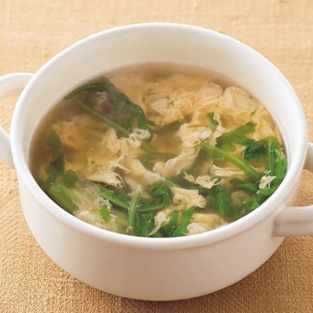 春菊のかきたまスープ