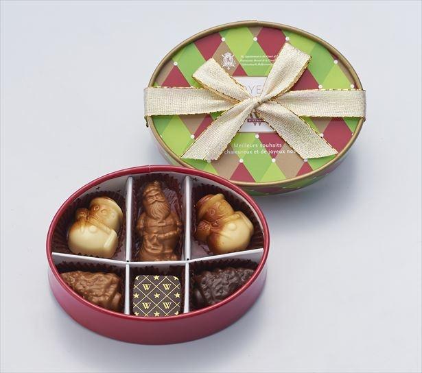 【写真を見る】サンタやスノーマンが入った「ショコラ・ド・ノエル」(6個入 2160円)