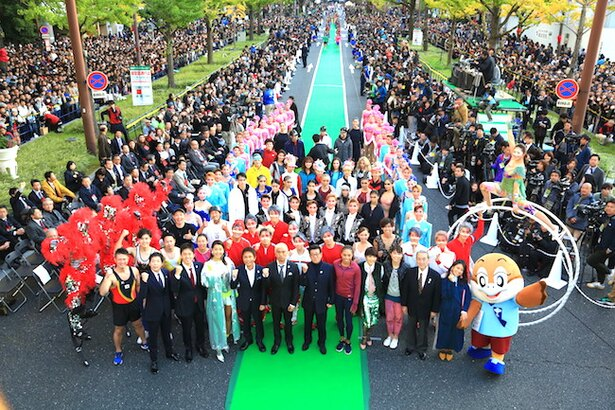 イベントのフィナーレは出演者総出の記念撮影