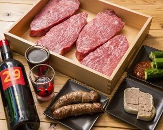 「さくっと肉山コース」(6品3240円)は天神店だけのオリジナルコース※写真はイメージ