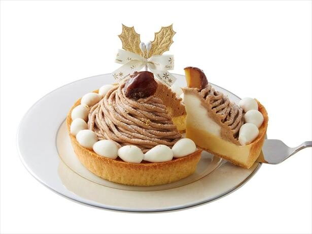 「クリスマス モンブランのチーズケーキ」