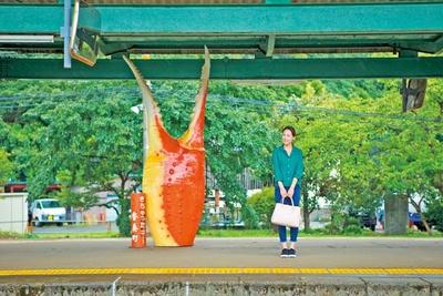 大阪から3時間ほどでJR香住駅に到着/香住