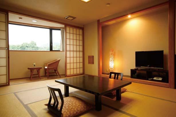 全17室の客室はすべて落ち着いた雰囲気の和室/なごみの春風の宿 さだ助