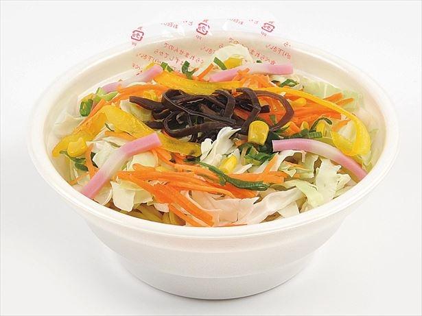 1/3日分の野菜約120gが入った野菜をしっかり食べられるタンメン