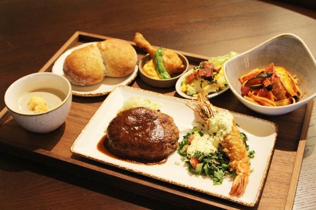 "KANAMEの一押し料理を少しずつ味わえるランチメニュー「""The KANAME""御膳」(2600円)"