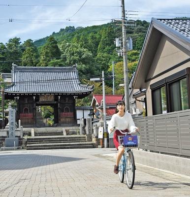 寺町ルートをサイクリング/舞鶴