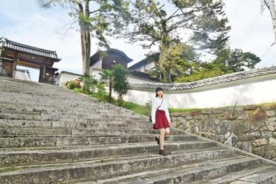 幅広の石段参道/見樹寺